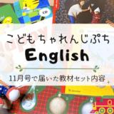 【こどもちゃれんじぷちEnglish】11月号で届いた教材セット内容