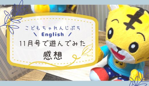 【こどもちゃれんじぷちEnglish】11月号で遊んでみた感想